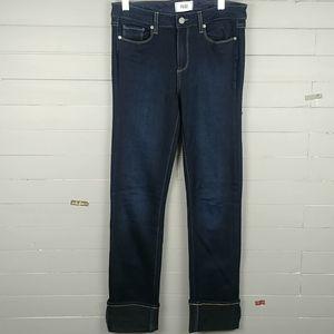 PAIGE Hoxton Straight Leg Blue Jeans